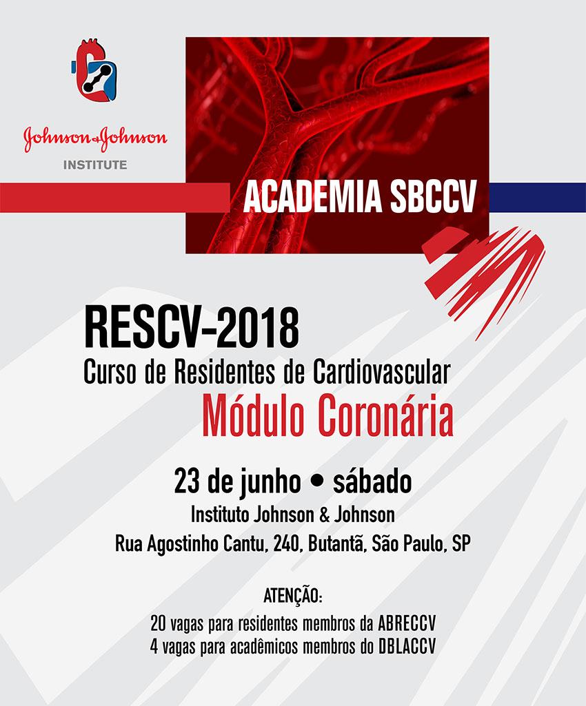 Academia SBCCV - RESCV-2018 - Curso de Residentes de Cardiovascular Módulo Coronária